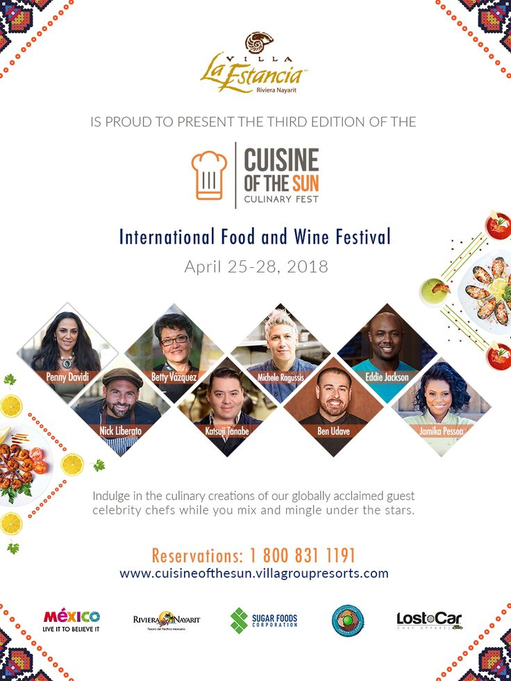 The Villa Group is proud to announce a new edition of the Cuisine of the Sun International Food and Wine Festival, which will be held April 25-28, 2018.   A perfect opportunity to join famed chefs from around the world and taste exquisite dishes that will delight your palates in every single way.   Reservations: 1.800.831.1191  More info ➡️ http://cuisineofthesun.villagroupresorts.com/