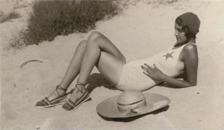 Muse Renee Perle by photographer Jacques Henri Lartigue, lounging on the Riviera.  (via Habitually Chic®: Renee on the Riviera)