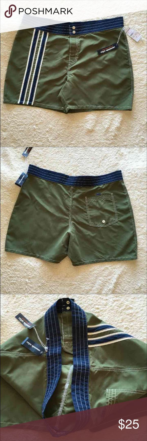 NWT Reyn Spooner Hawaiian Surfboard Short Size 38 New with tag. Men's surfboard short. Style# R210. 100% polyester. Size 38. Waist laying flat 20 1/2'. Rise 12 1/2'. Inseam 4 1/2'. Please check some of my items you might find what you are looking for in good quality and very affordable price Reyn Spooner Shorts Athletic