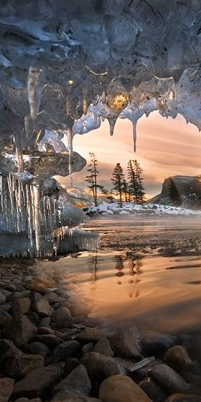 Icecles at Banff National Park in Alberta, Canada • photo: Robert Beideman on…