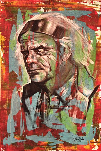Art By James Hance - Doc (Print) Doc Brown Back to the Future