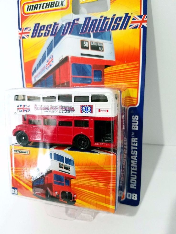 Mattel MATCHBOX Best of British 08 Routemaster Bus Double Summer Arts Festival #Matchbox