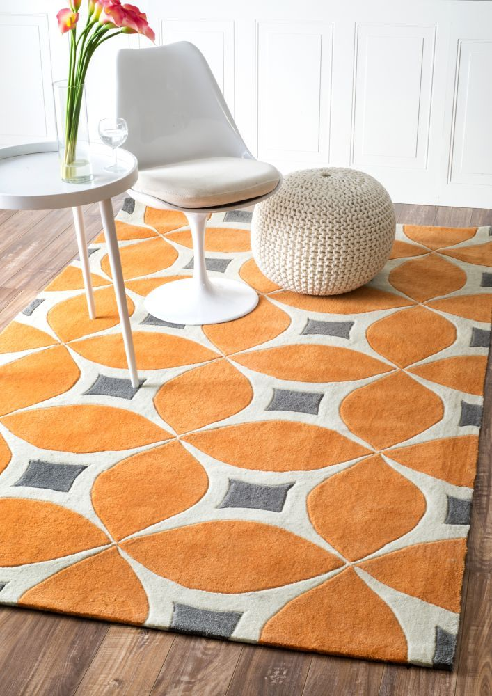 nuLOOM Handmade Modern Disco Rug x Orange