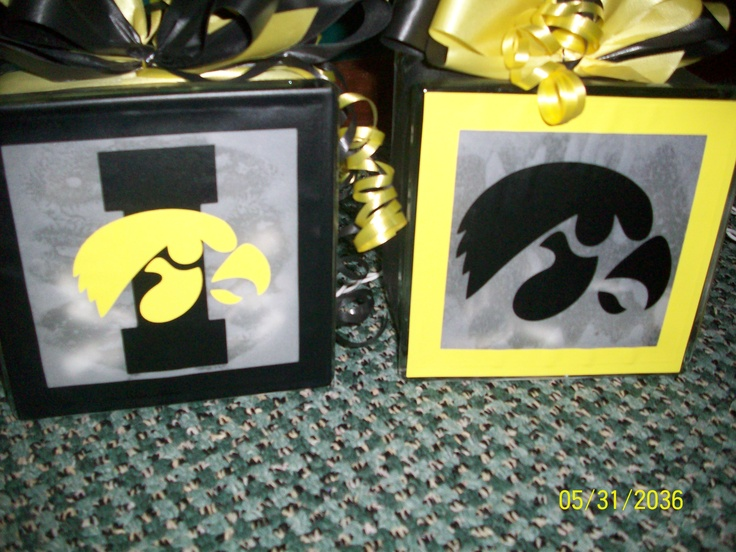 Iowa hawkeye block lights kustomade4u personalized for Iowa hawkeye decor