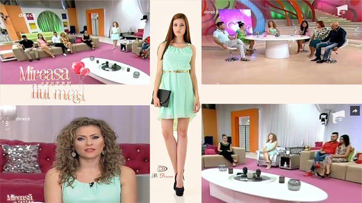 Noi spunem ca ii sta bine Mirelei prezentatoarea de la emisiunea MIREASA PENTRU FIUL MEU in rochiile Per Donna. Voua va place? :) #mireasapentrufiulmeu #sepoartaperdonna #dress #rochiidezi #haineengros www.perdonna.ro