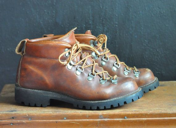 Vintage Leather Danner Hiking Boots Excellent by drowsySwords, $68.00