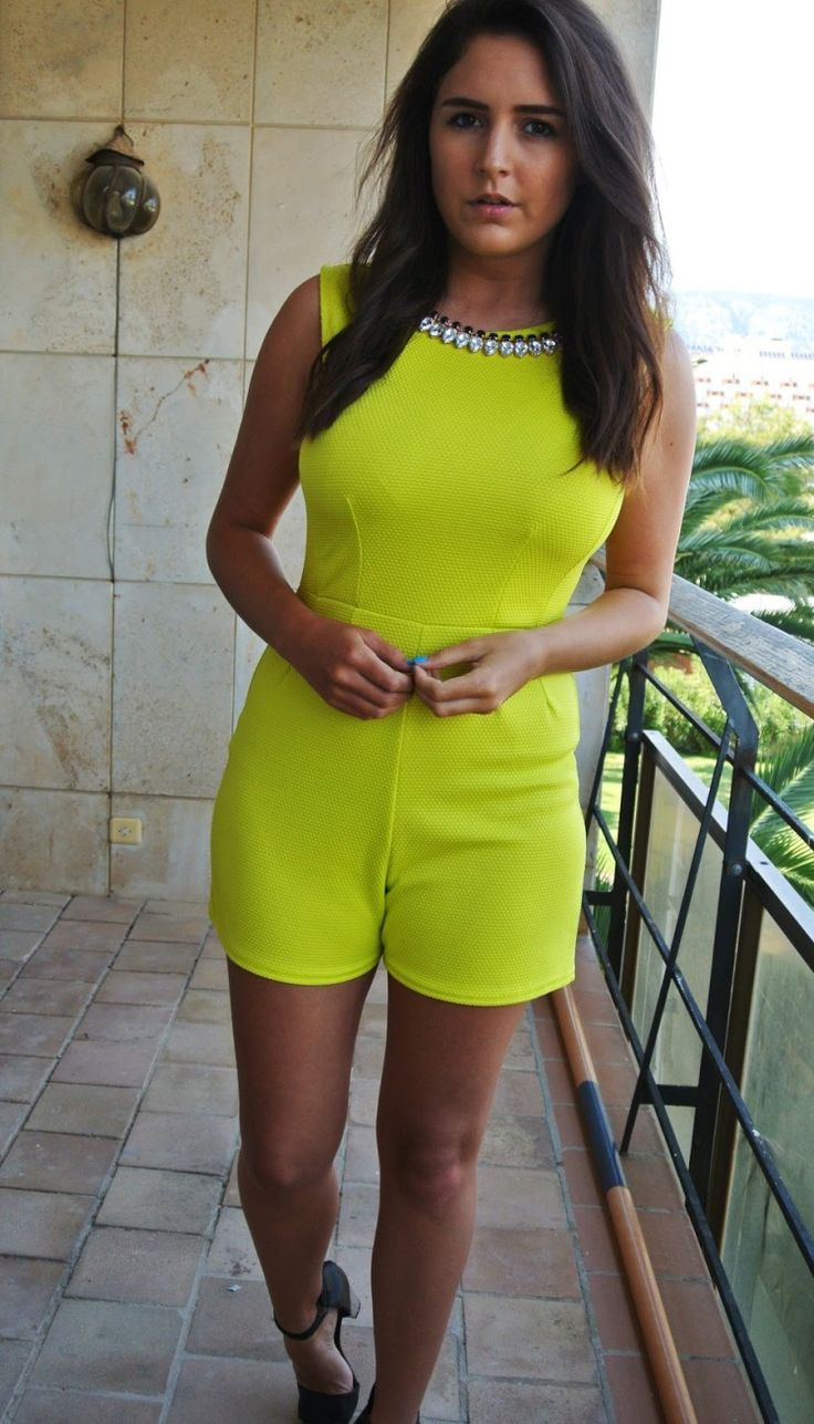 Neon Streetstyle Playsuit - pictures, photos, images