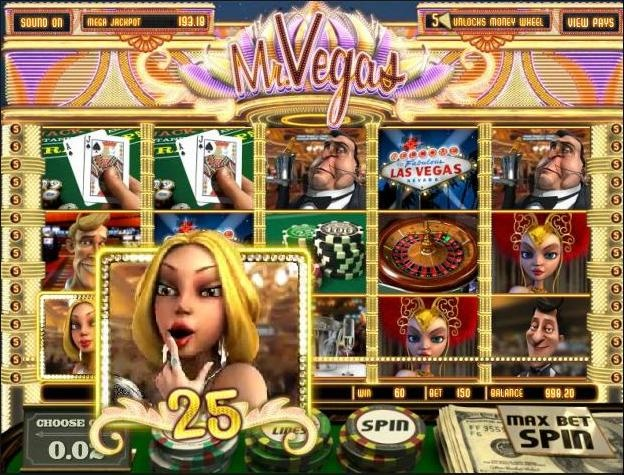 Enjoy playing the Mr. Vegas 3D video slot game completely free at 1OnlineCasino.com