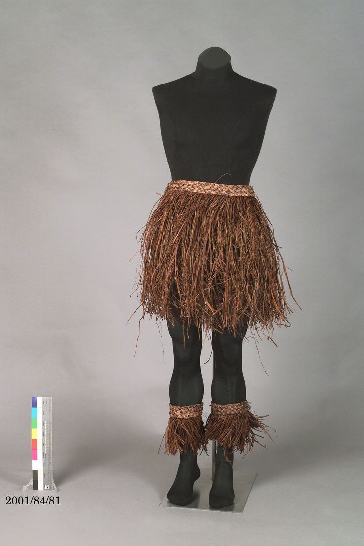 The Torres Strait Island - Male costume was designed by Jennifer Irwin. It features a brown raffia skirt, leggings, armbands and headband. The costume was worn in the Awakenings segment of the Sydney 2000 Olympic Games Opening Ceremony by a performer from either Saibai or Boigu Island in the Torres ...