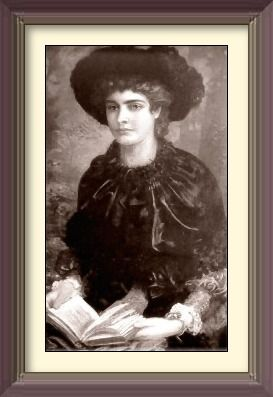 Portrait of Constance Lloyd before her marriage by. | By: Louis Desange http://kimberlyevemusings.blogspot.com/2012/12/constance-tragic-and-scandalous-life-of.html