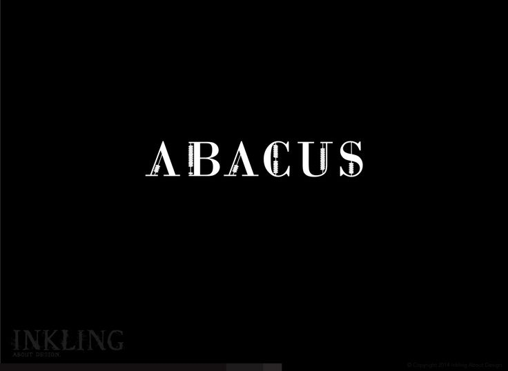 """Abacus""  A font modification experiment using Bodoni typeface... #typography #lettering #design (www.inklingaboutdesign.com)"
