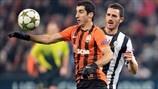 Henrikh Mkhitaryan (FC Shakhtar Donetsk) & Mirko Vučinić (Juventus)   Shakhtar 0-1 Juventus. [05.12.12]