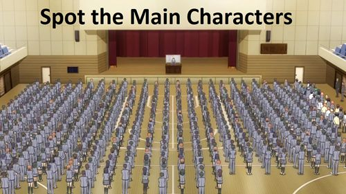 Spot the Main Characters, Group Level (Assassination Classroom)