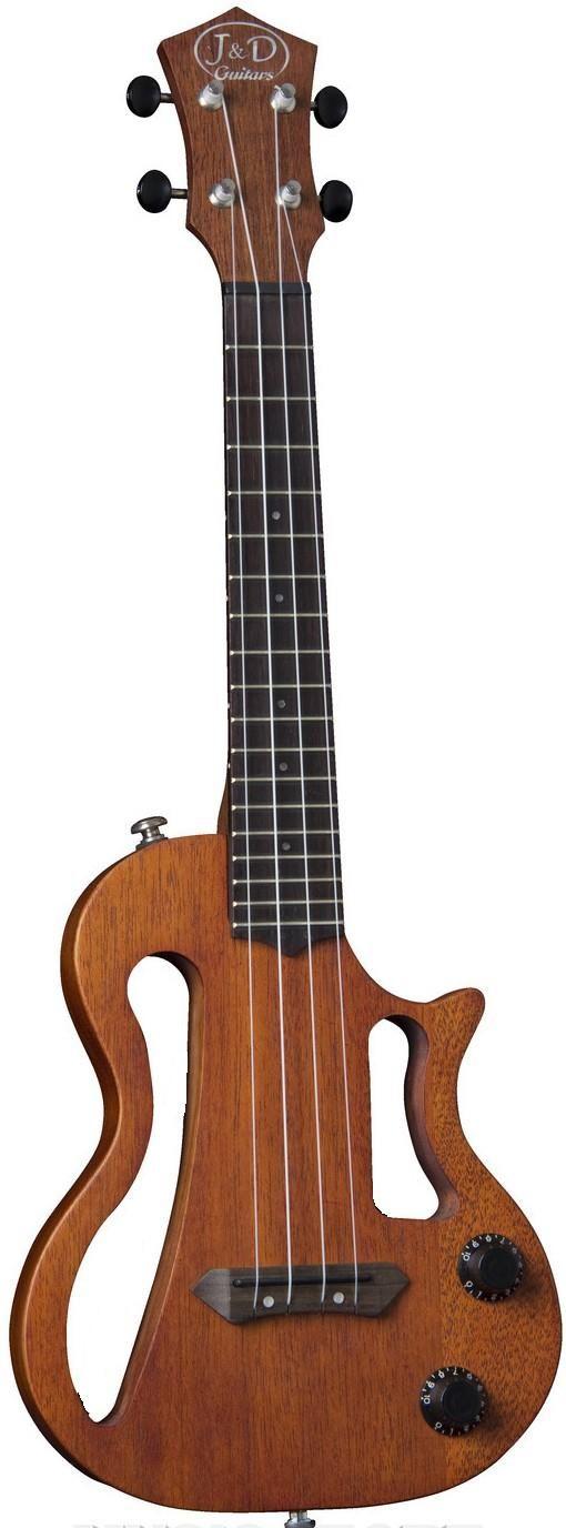 lardyfatboy: J & D Guitars electric Ukulele - It might be very cheap but I think it looks interesting =Lardys Ukulele of the day - a year ago --- https://www.pinterest.com/lardyfatboy/
