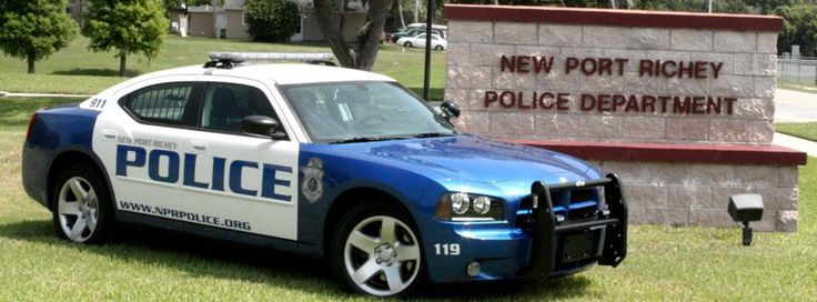 Pasco County, Florida, New Port Richey Police Department Dodge Charger vehicle.