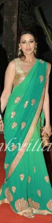 Gold tank style sari blouse