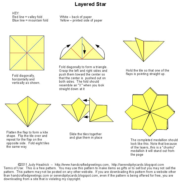 Tea Bag Folding Instructions...paper folding for card making