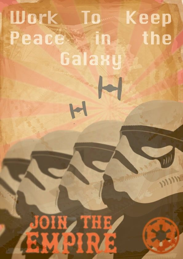 Star Wars Empire Vintage Propaganda Art