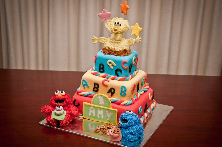 One of my first cakes I created. Sesame' Street for my niece Amy