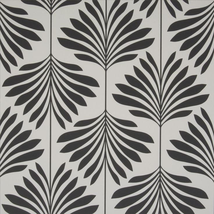 Vogue Charcoal Palm Wallpaper W0003 05 Clarke Serendipity Home Interiors Project Shannon Condo In 2019 White