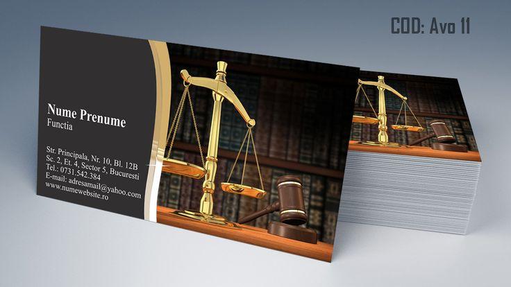 Carti de vizita avocat cod AVO 11 - modele online gratis, printate color fata sau fata-verso. Tiparim carti de vizita atat pentru cabinet de avocat cat si pentru cabinet notarial, juristi sau avocati stagiari. Lawyer, law, attorney business cards templates