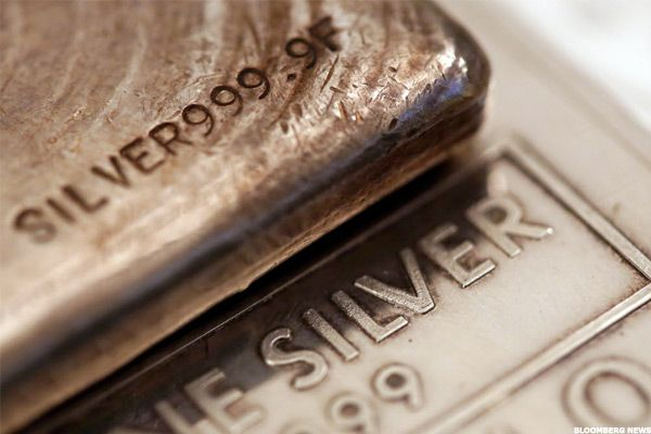 Silver Wheaton (SLW) stock is climbing on Wednesday afternoon as silver prices get a lift from a declining dollar and higher safe-haven demand.