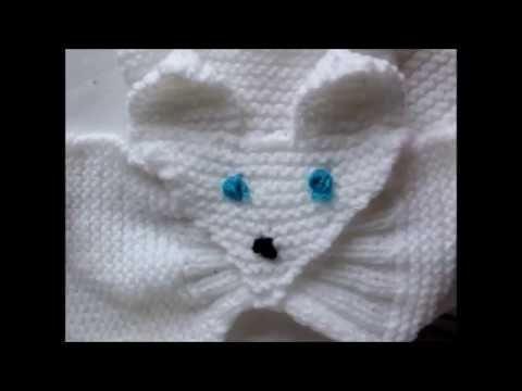 écharpe renard pour enfant au tricot - YouTube