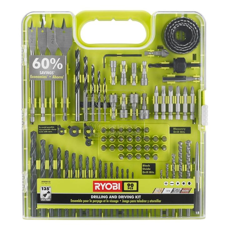 Ryobi Drill and Drive Kit (90-Piece)-A98901G - The Home Depot