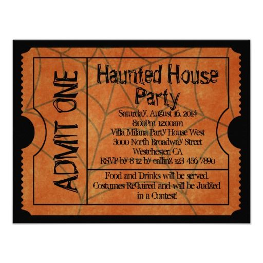 20 best Halloween Party Invitation Templates images on Pinterest - movie ticket invitations template