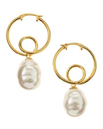 Baroque Twisted Hoop Earrings - Last Call by Neiman Marcus