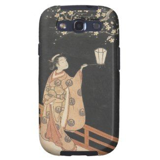 Young Woman Admiring Plum Blossoms at Night art Galaxy SIII Cases #young #woman #japanese #lady #plum #blossom #vintage #oriental #gifts #accessories #harunobu #suzuki