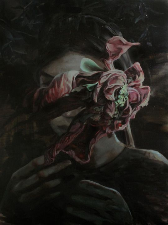 Meghan Howland (American, b. 1985, Haverhill, MA, USA) - Rite Of Passage, 2014  Paintings: Oil on Canvas