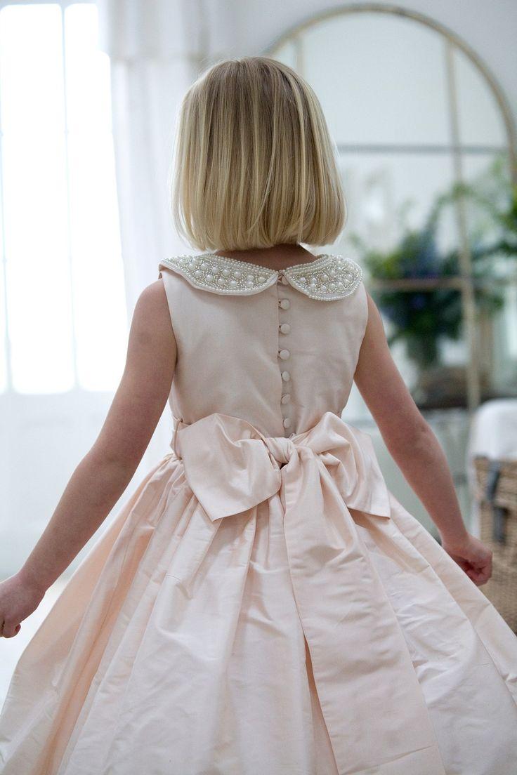 Love this beaded collar on the silk dress.