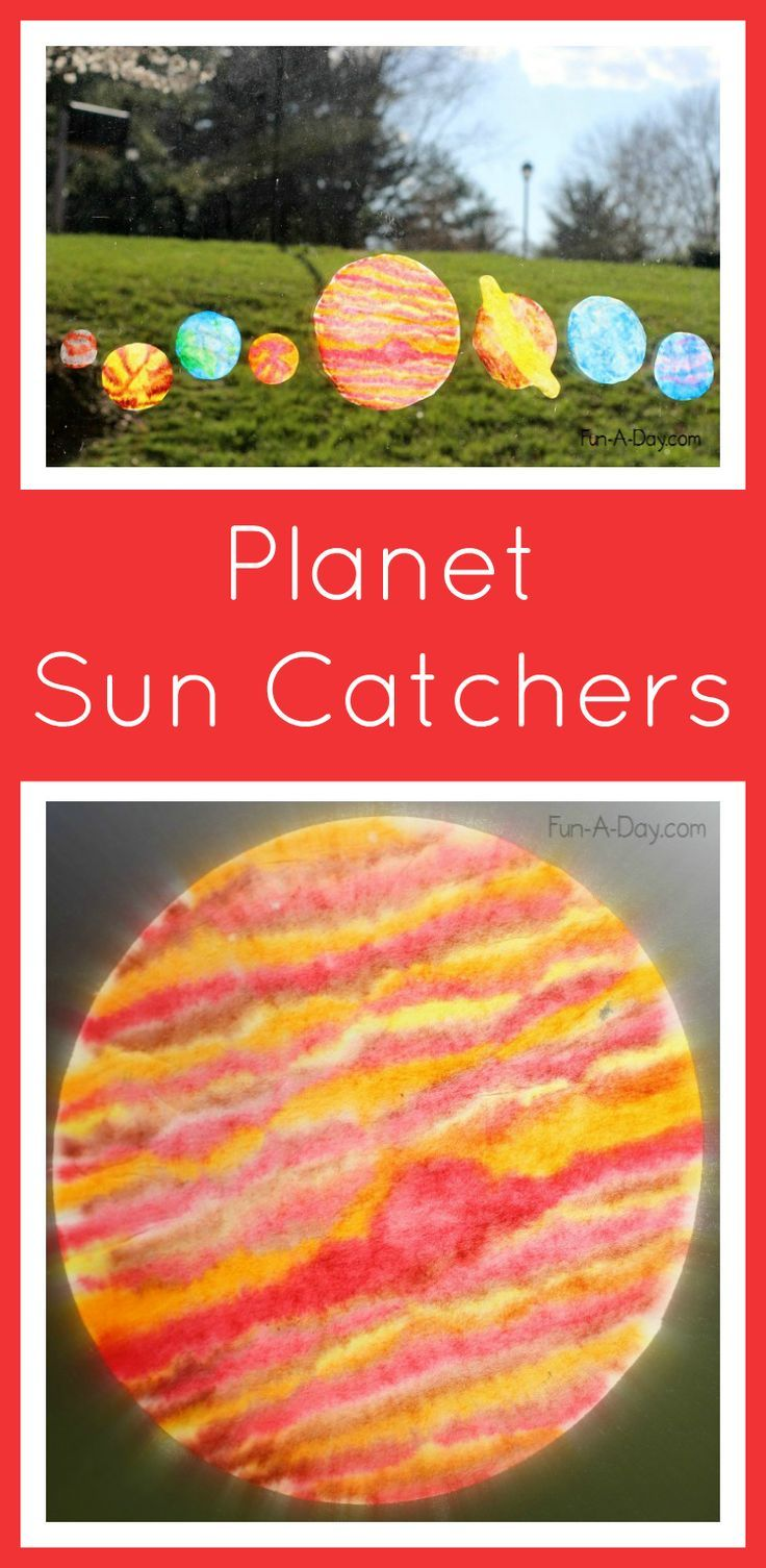 planet sun catchers - what an awesome space craft for kids! Outer space awesome craft for preschool