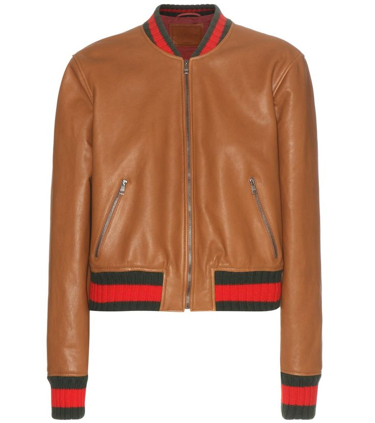gucci veste bomber en cuir ornements gucci vous propose une veste bomber l gante moderne. Black Bedroom Furniture Sets. Home Design Ideas