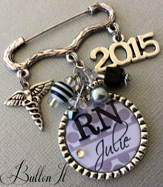 Nursing Pinning Ceremony RN jewelry Nurse Graduation by buttonit
