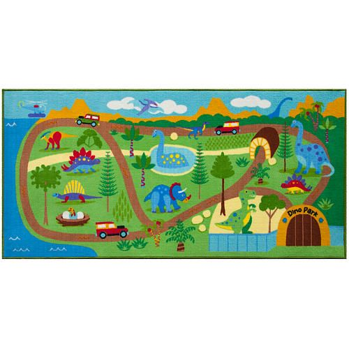 Olive Kids Dinosaur Land Play Rug X Ft Will Love Cruising Their Cars Down The Dirt Roads Of