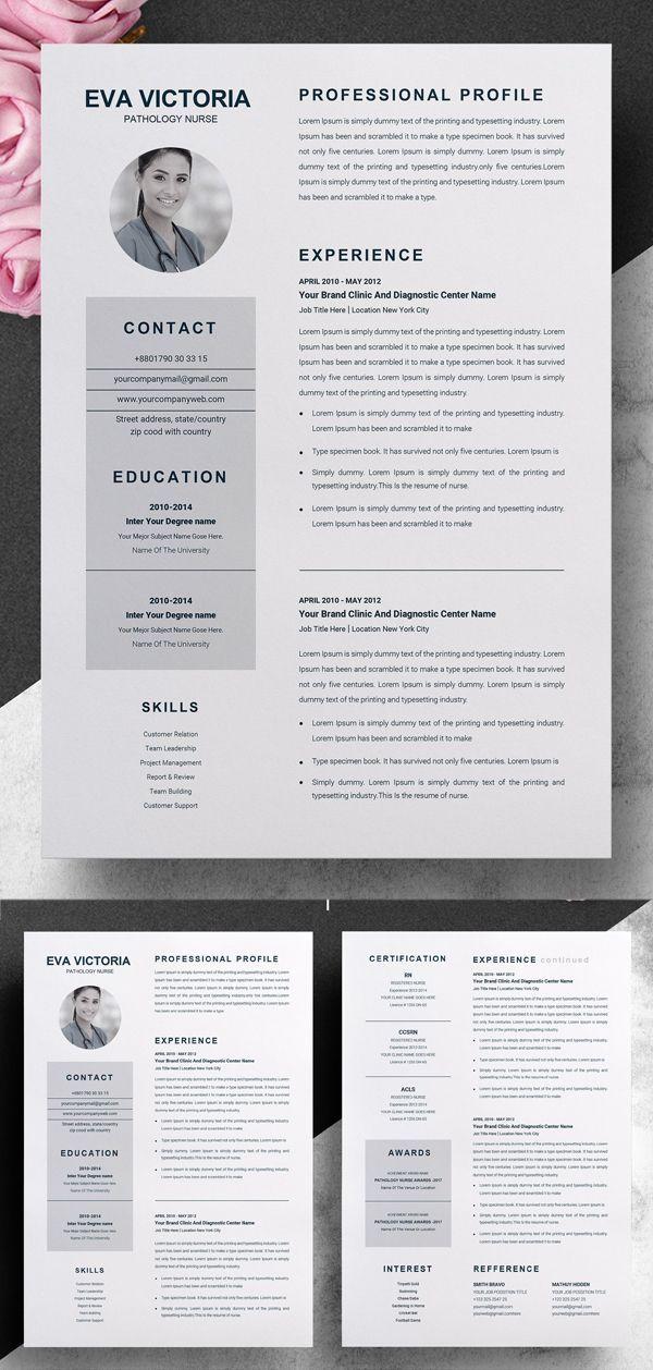 Nurse Resume Template Cover Letter Nursing Resume Template Downloadable Resume Template Resume Design Template