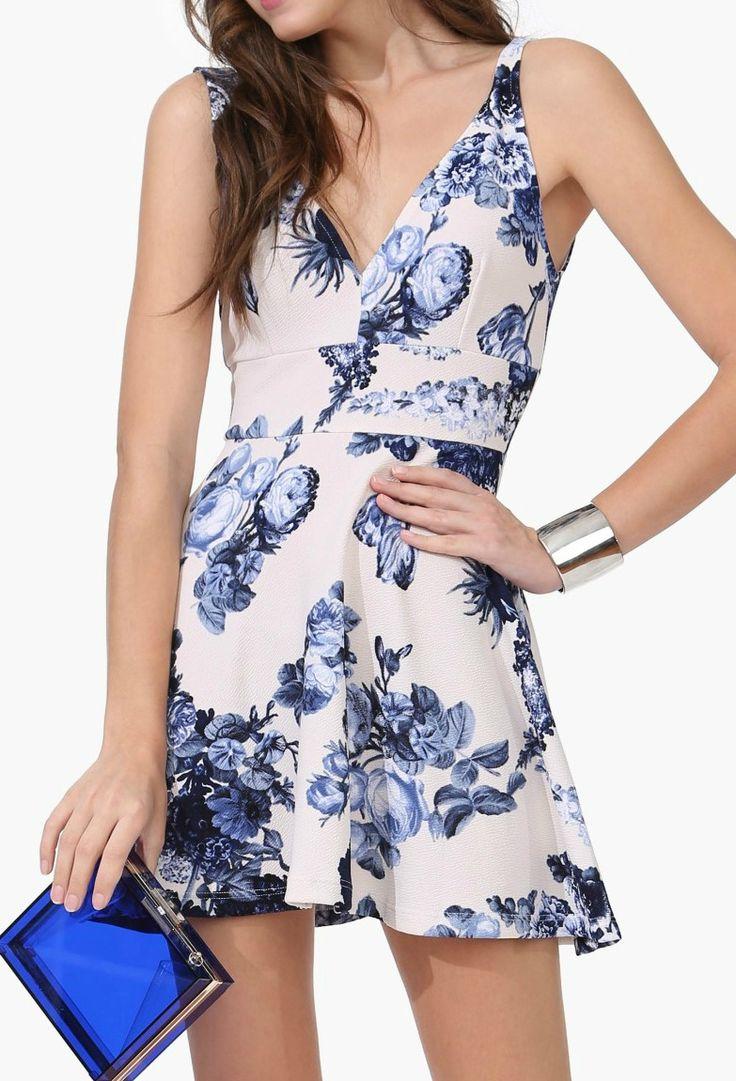 cute flowery blue dress