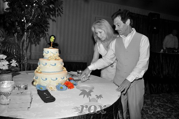 Cake Cutting at a Wedding Reception in Ocean City MD's Clarion Hotel by Rox Beach Weddings: http://roxbeach.com/