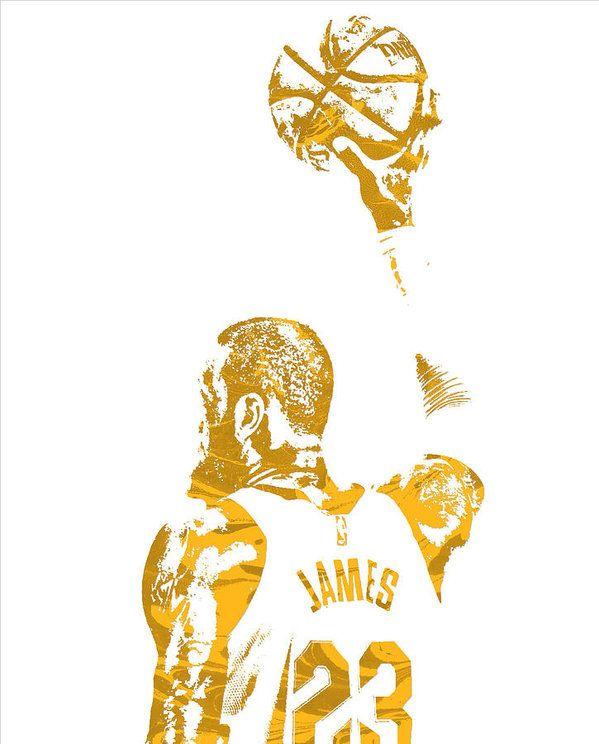 db42c94a972 Lebron James Cleveland Cavaliers Pixel Art 71 Art Print by Joe Hamilton