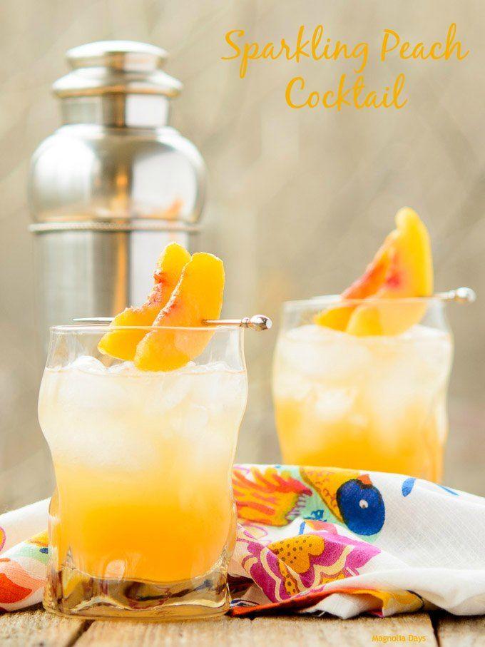 Sparkling Peach Cocktail #SundaySupper