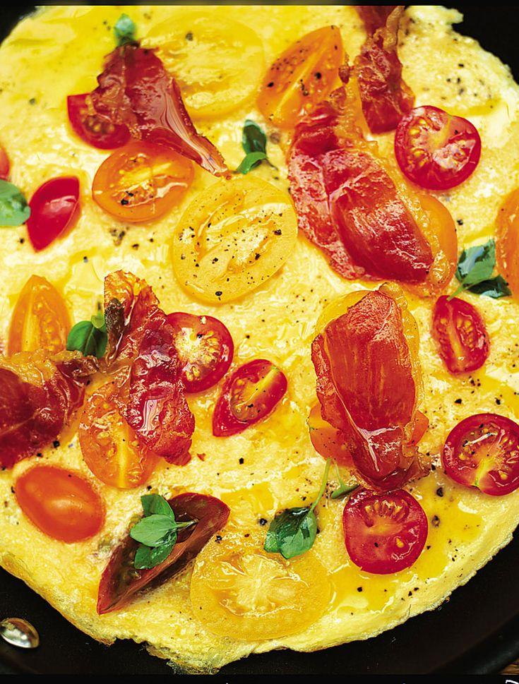 Tomato, Basil & Prosciutto Omelette Recipe on Yummly. @yummly #recipe