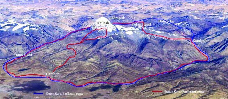 Kailash Mansarovar parikrama route