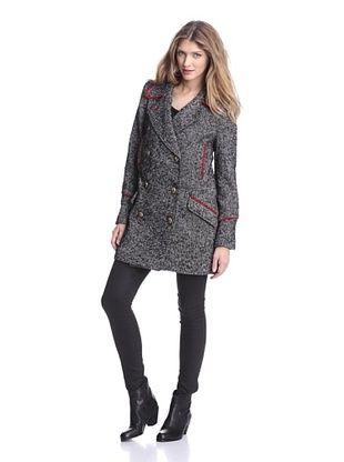81% OFF W118 by Walter Baker Outerwear Women's Lilly Tweed Coat (Grey)