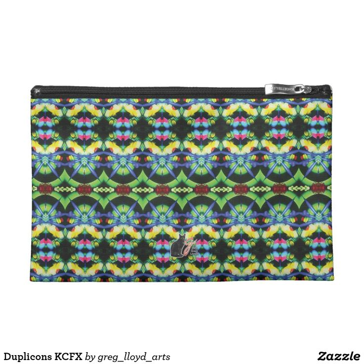 Duplicons KCFX Travel Accesories Bag. Over 3000 products at my Zazzle online store, all featuring my original illustrations and abstract imagery. Open 24/7 -- World wide! Custom one-of-a-kind items shipped to your door. This art is exclusive to greg_lloyd_arts. No one else has it.   http://www.zazzle.com/greg_lloyd_arts*?rf=238198296477835081