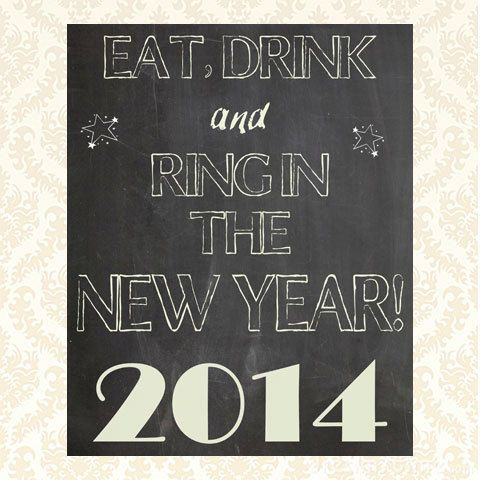 New Years Party Decoration. Printable Digital Download