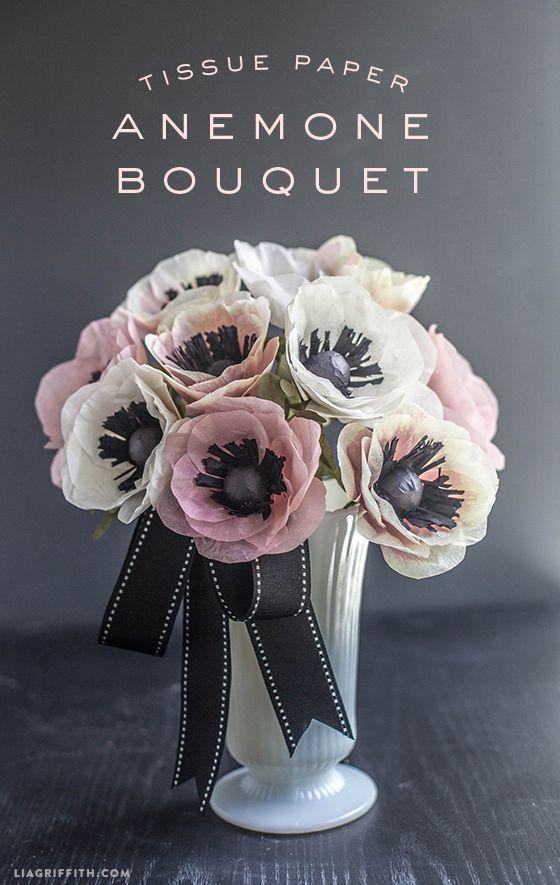 Tissue Paper Anemone Bouquet DIY