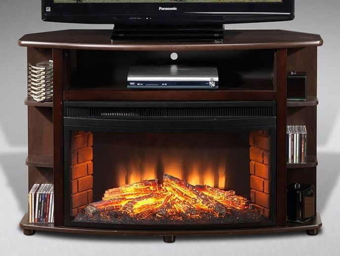 Attrayant Small Corner Electric Fireplace Tv Stand Best Option For Small Rooms 63