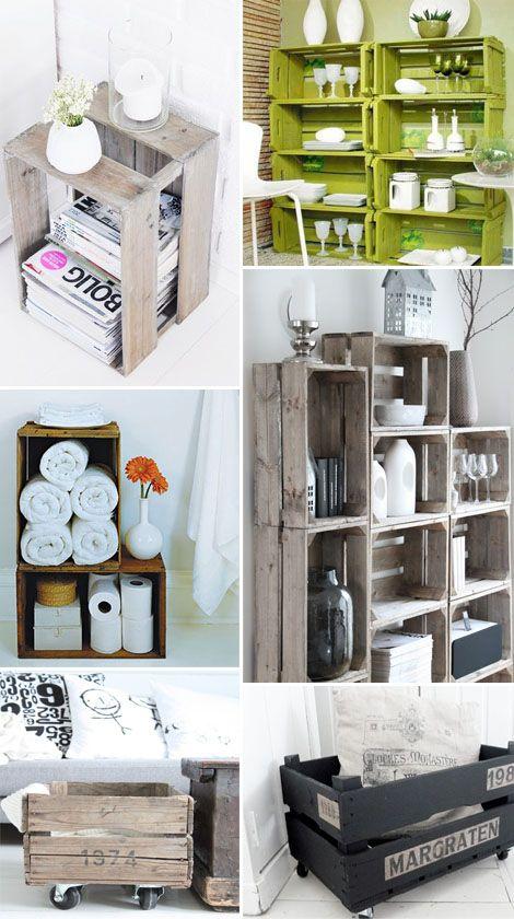 recycle dieci modi per trasformare una cassetta di legno in un pezzo d'arredo   StyleNotes - Appunti di Stile www.stylenotes.it